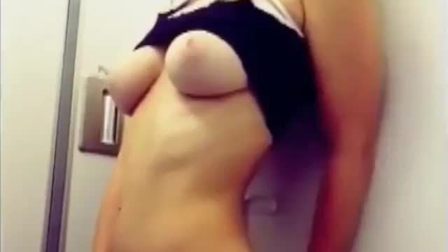 getting herself off in the bathroom